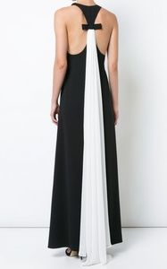 NWT Pleated Draped Back Dress